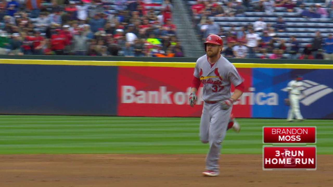 Moss' three-run shot