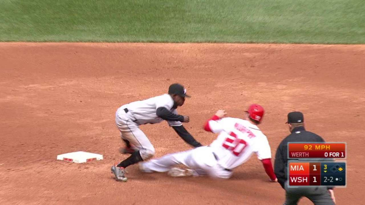Marlins turn two to end the 3rd