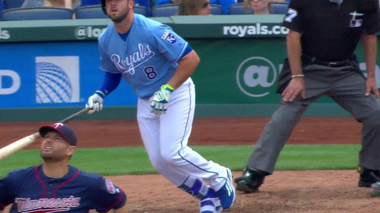 Moustakas' solo shot in the 6th