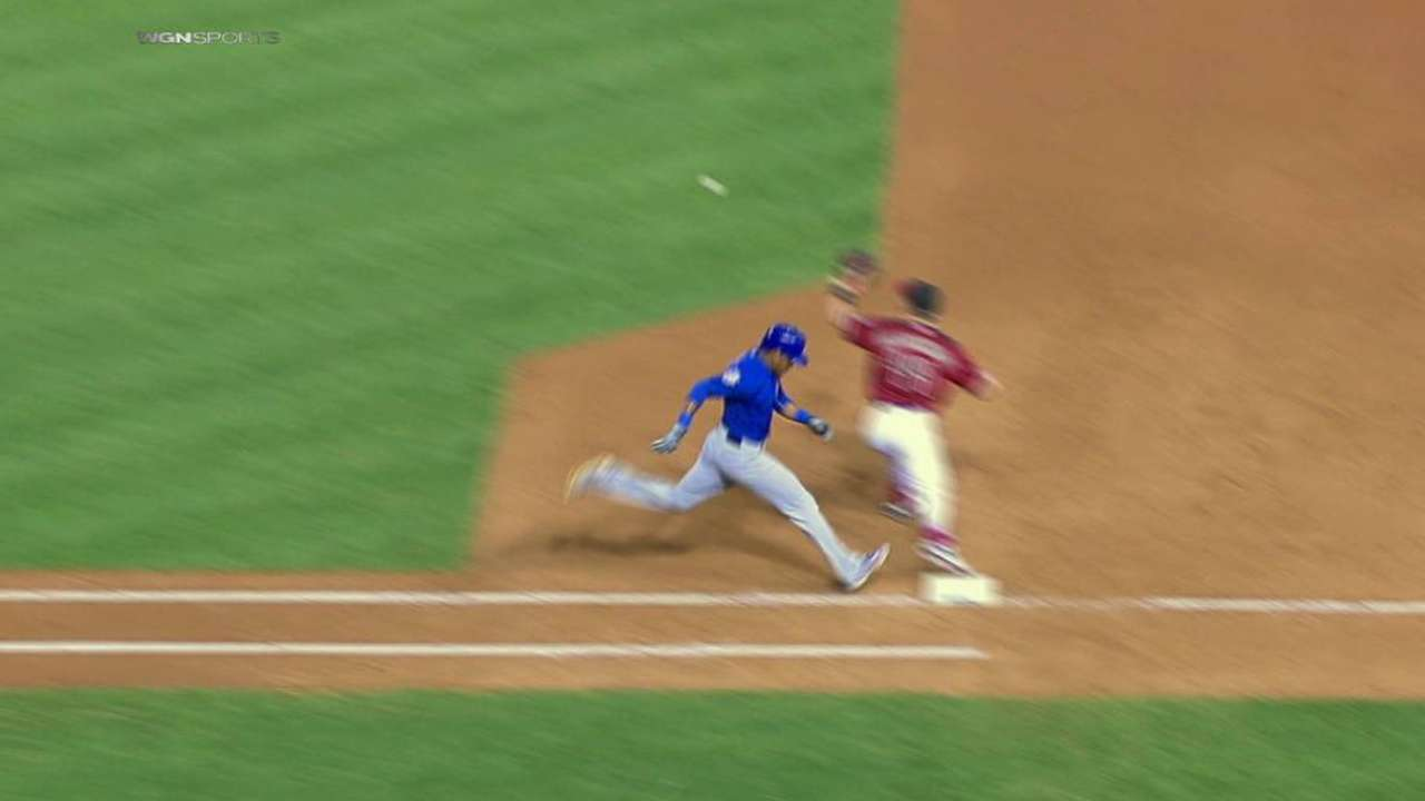 Russell avoids double play