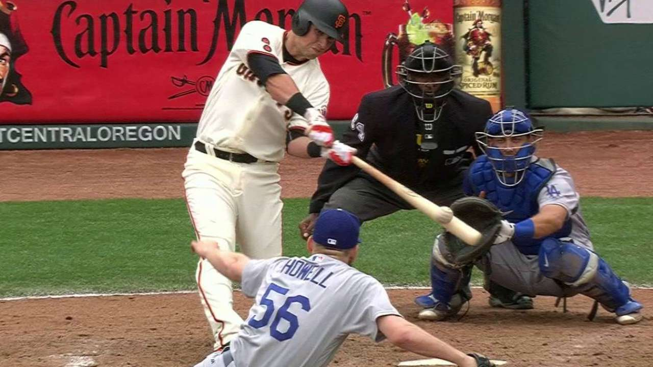 Gigantes remontan para llevarse serie ante Dodgers