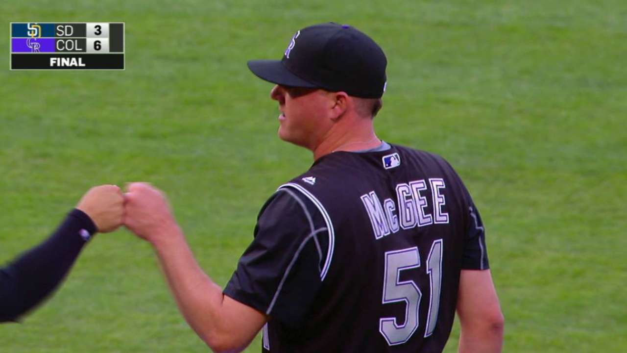 McGee notches the save