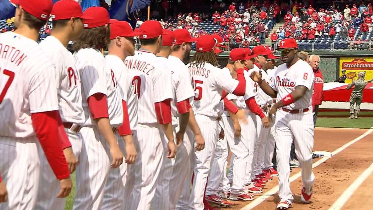 Phils pull out all the stops for home opener