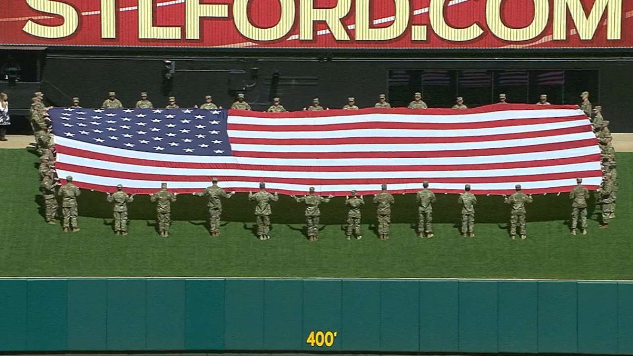 Mathews performs national anthem