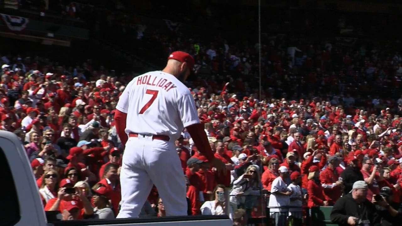 Cardinals introduced at Busch