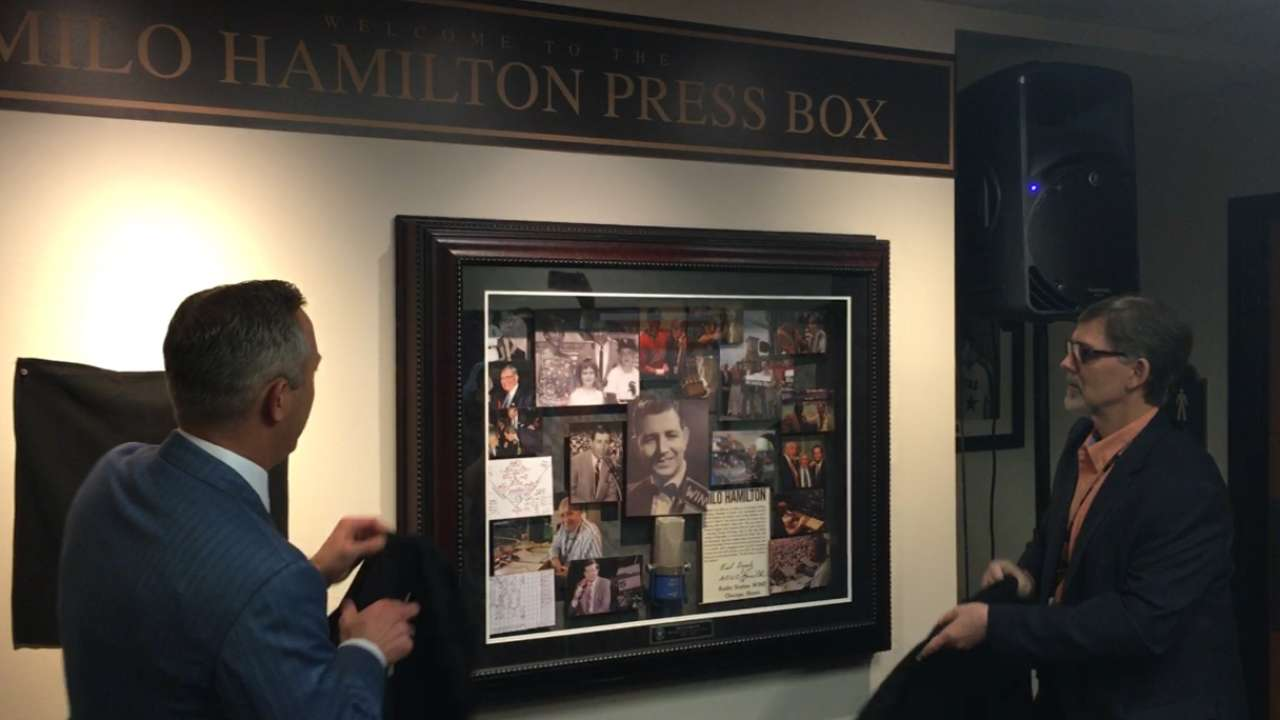 Astros honor legend with Milo Hamilton Press Box