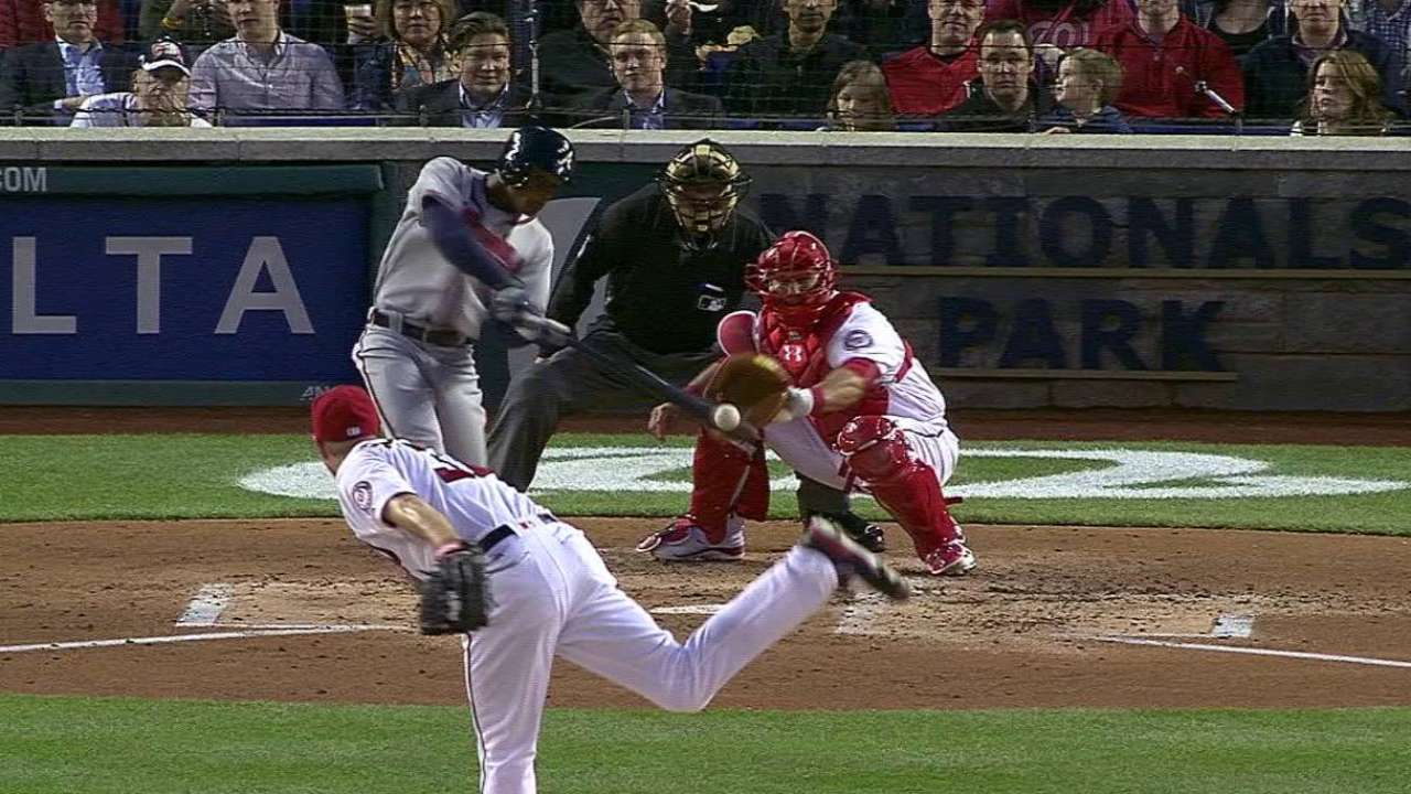 Smith's first MLB hit