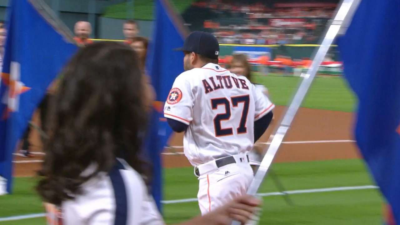 Past, present celebrated before Astros' home opener