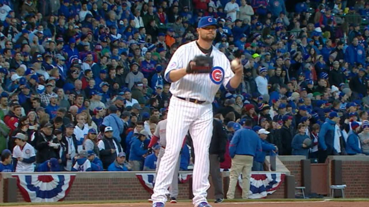 Lester throws six solid innings