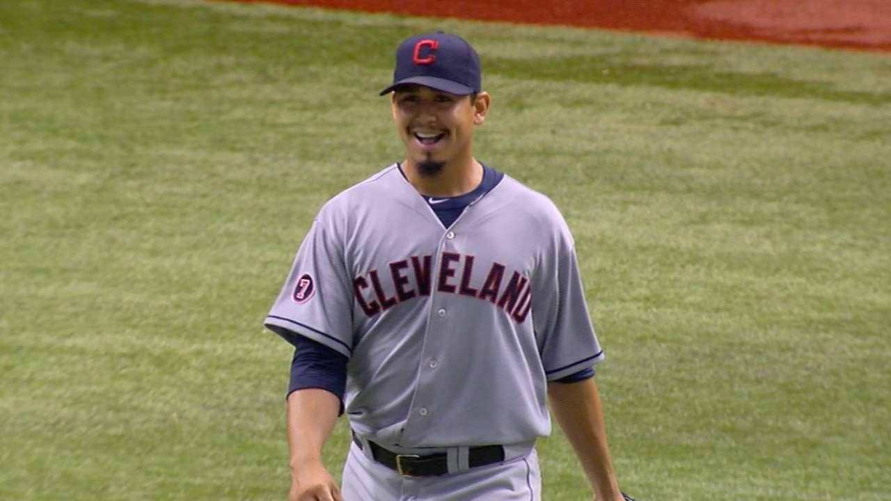 Carrasco's near no-hitter