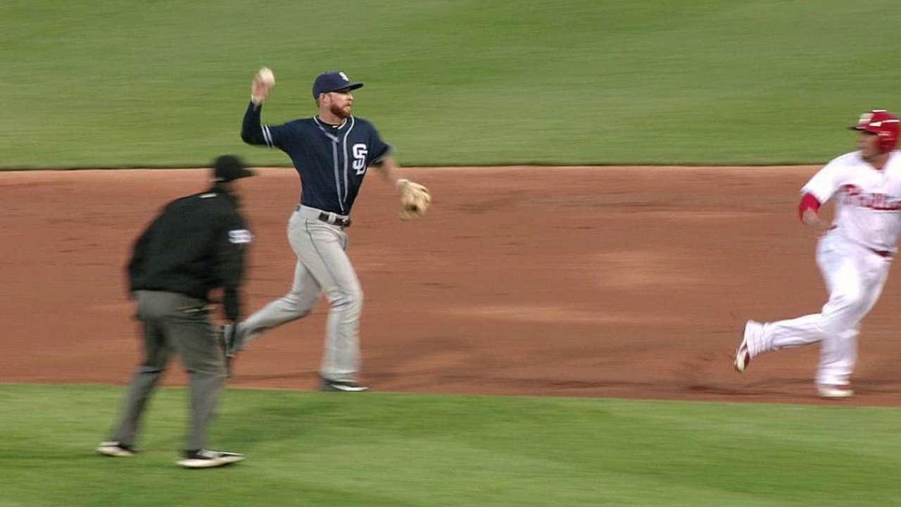 Padres turn two on rundown