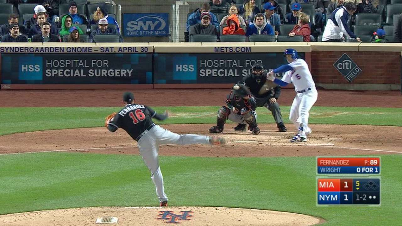Fernandez strikes out Wright