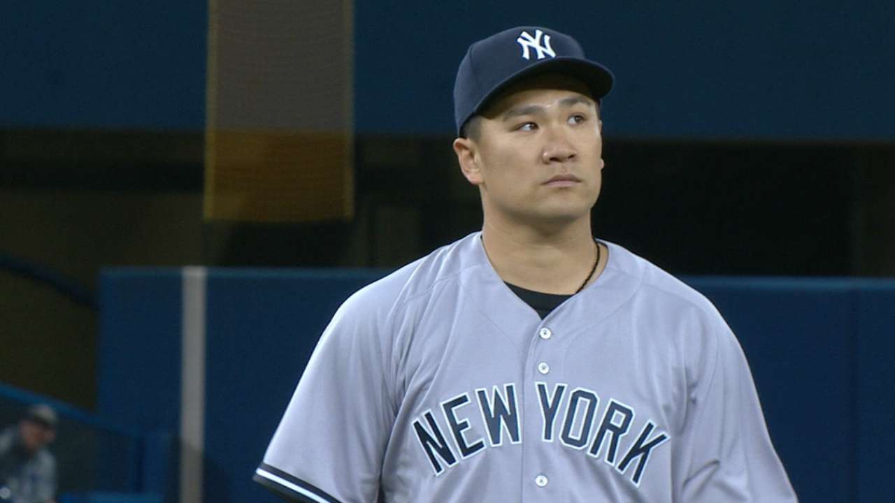 Tanaka's two-run outing