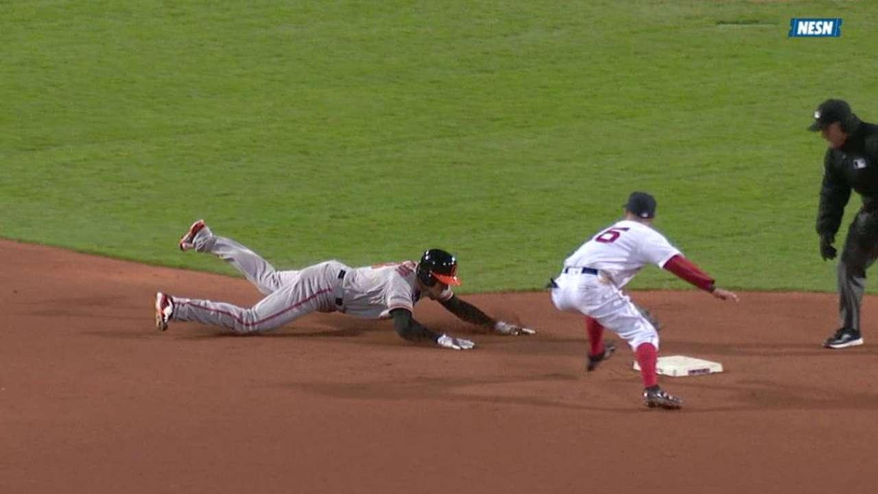 Bradley Jr. throws out Flaherty