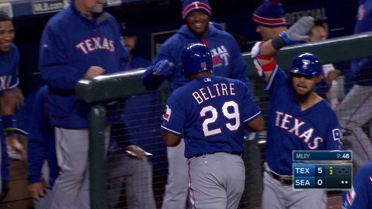 Beltre's three-run homer