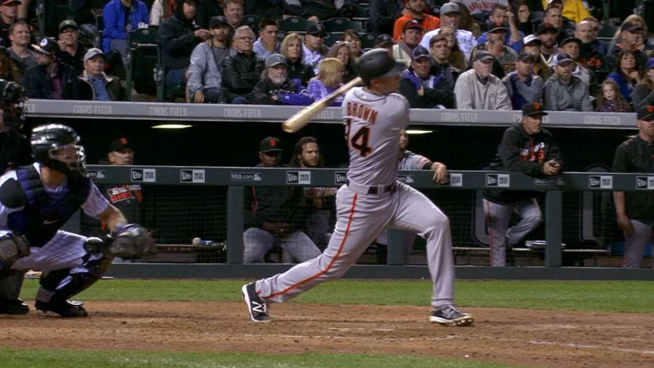 Brown belts two homers, earns catching raves