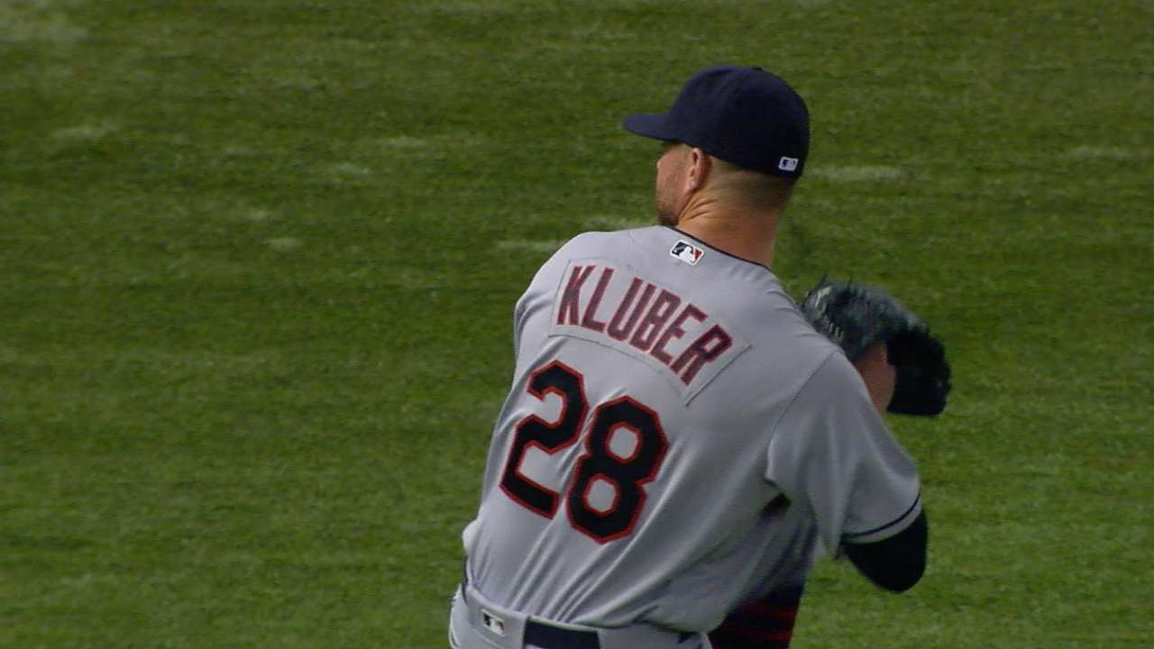 Kluber's six strikeouts
