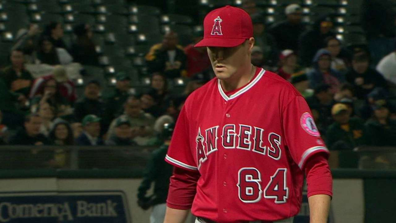 Angels' seventh-inning relief remains in flux