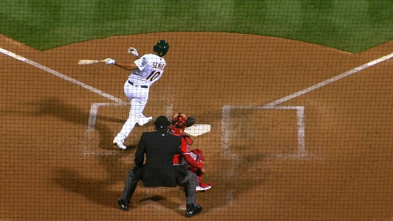 Semien's two homers