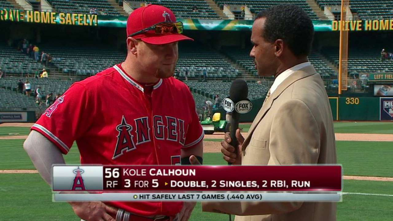 Calhoun on Angels' win