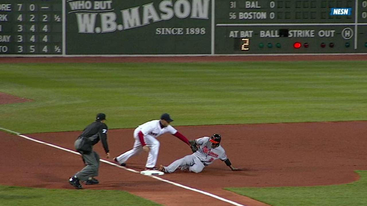 Smooth relay underscores Pedroia's instincts