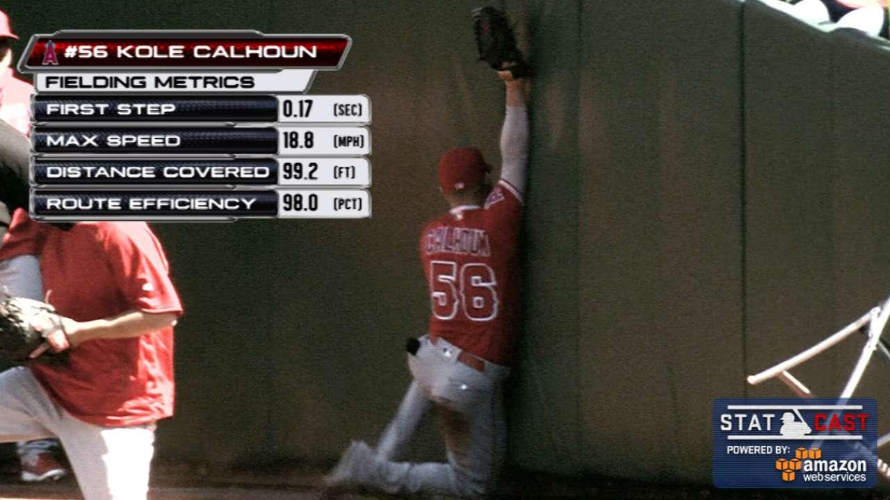 Statcast: Calhoun's running grab