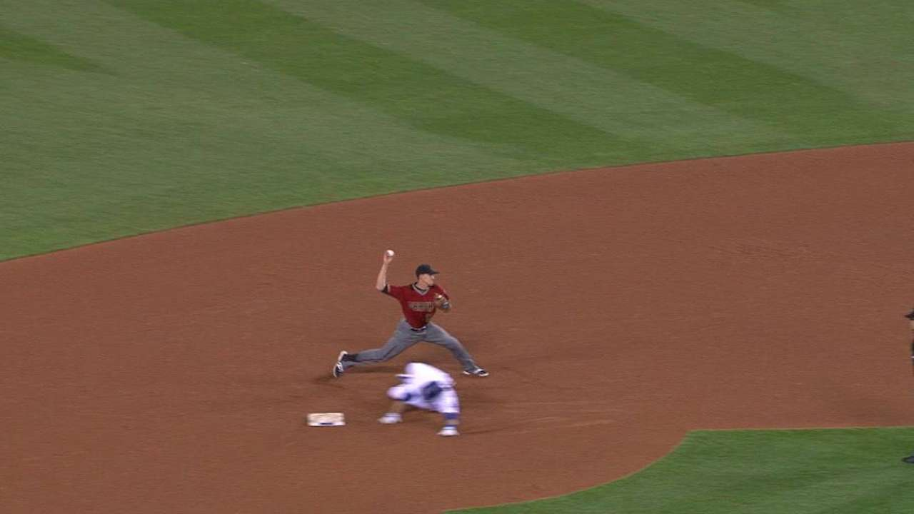 Segura gets Utley at second