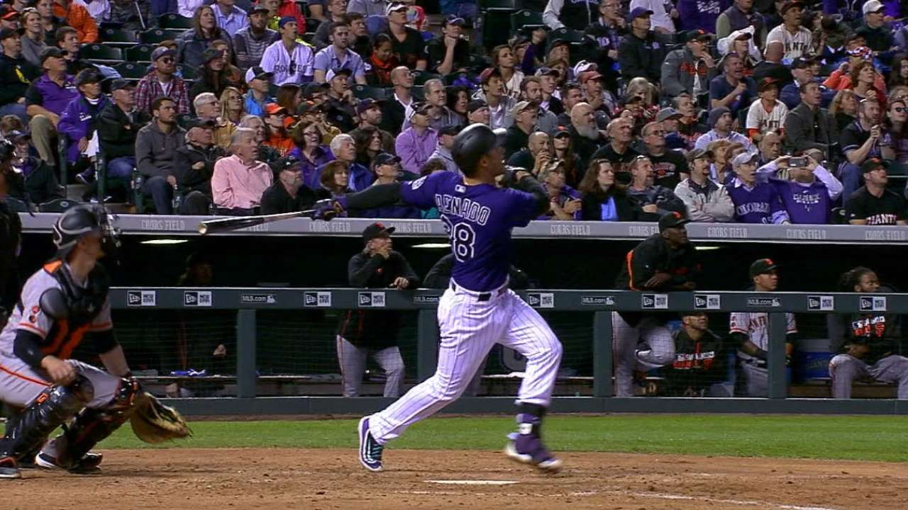 Arenado steals show, hits 2 HRs, knocks in 7