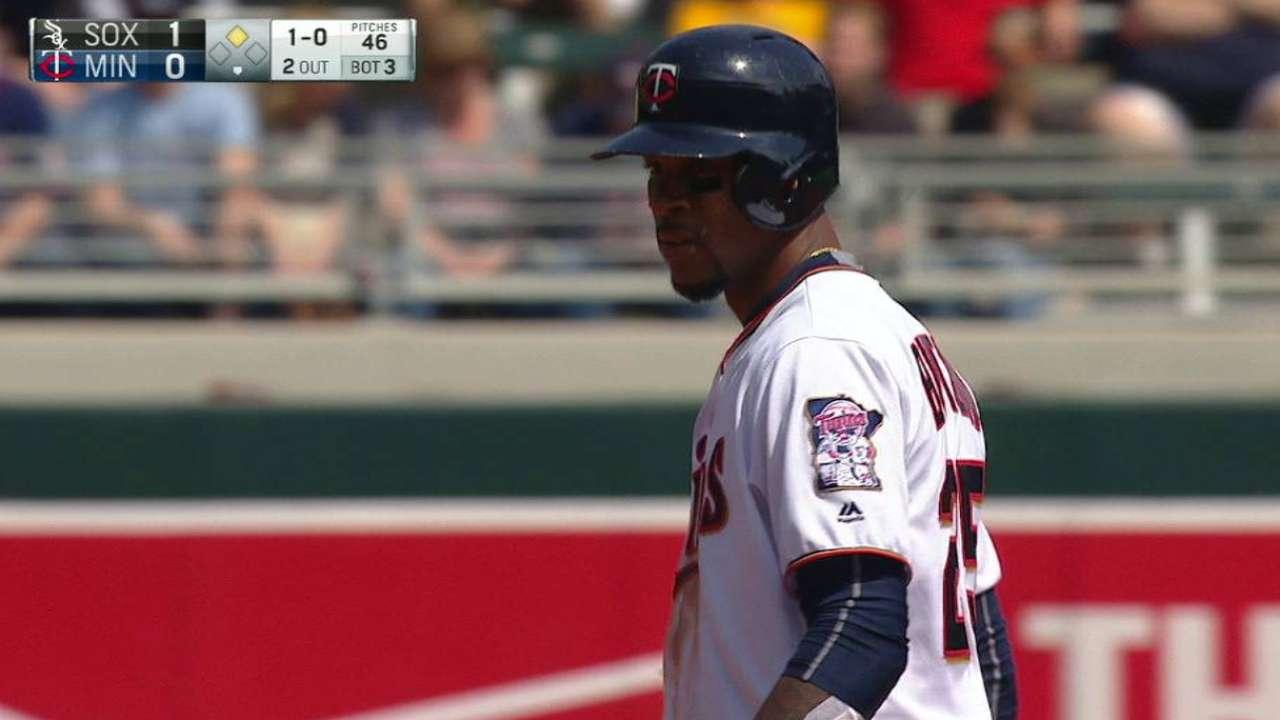 Buxton swipes second base