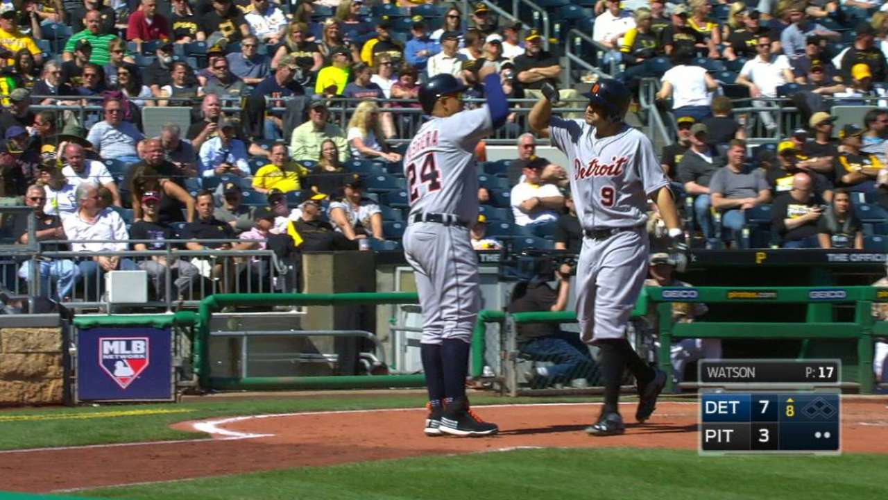 Castellanos' 4 RBIs carry Tigers past Pirates