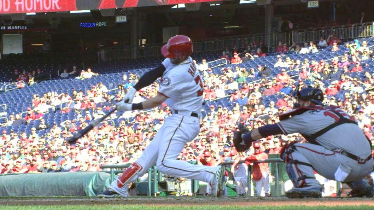 Harper's 100 home runs