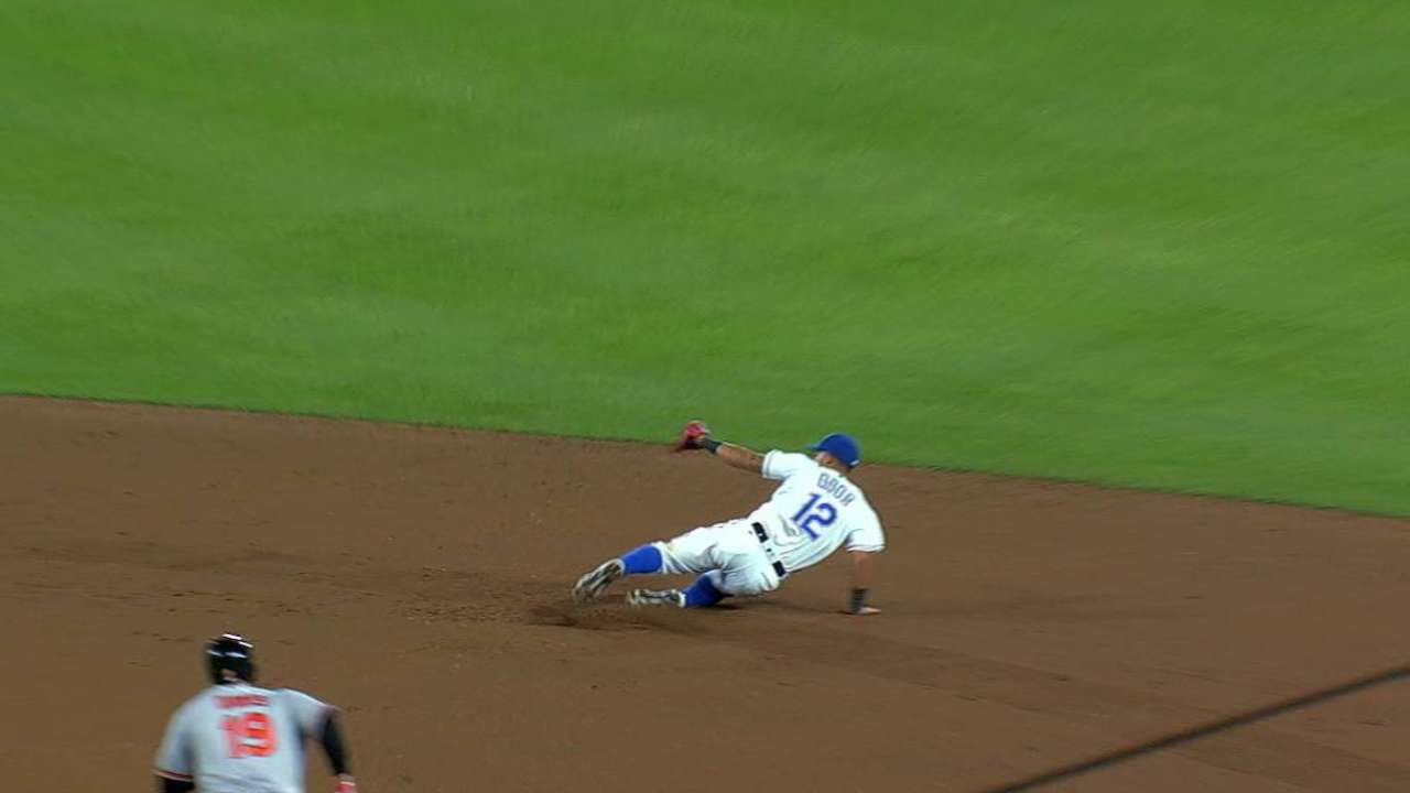 Odor starts a slick double play
