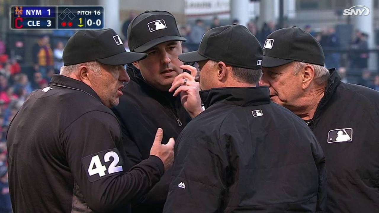 Umpires reverse home run call