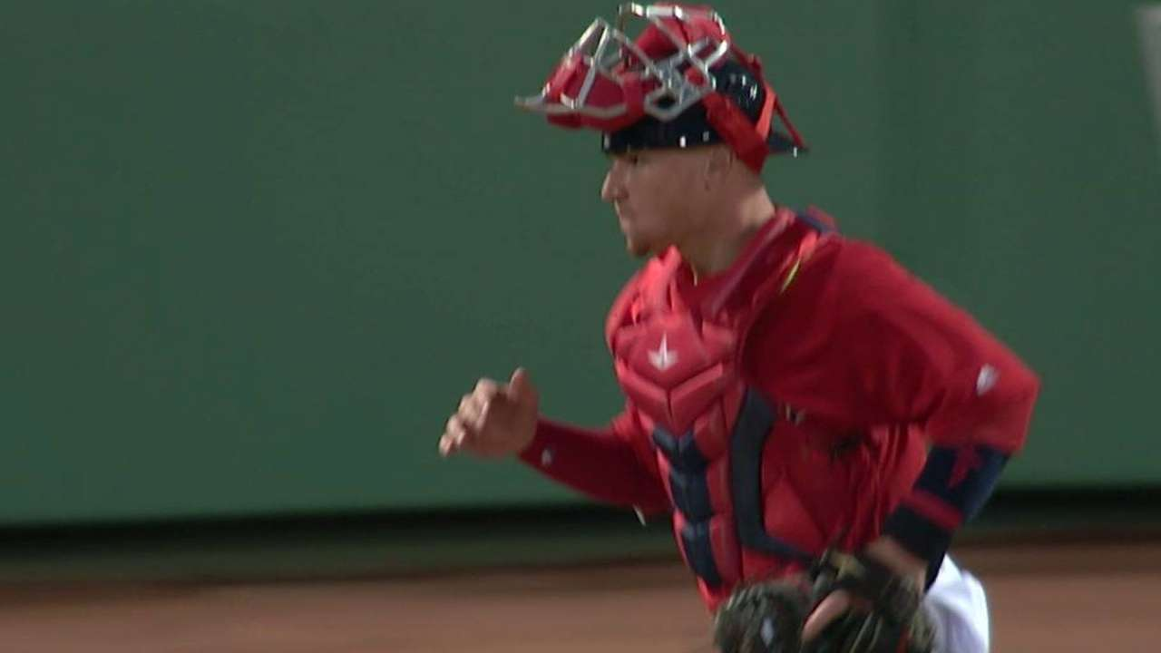 Red Sox execute double play
