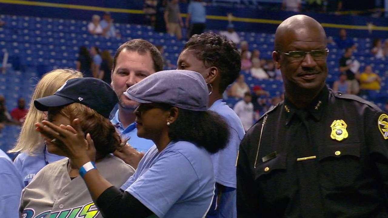 Rays honor community leaders