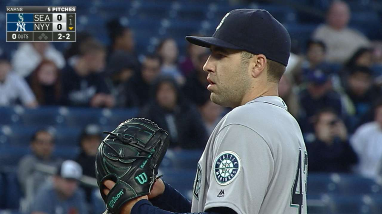 Karns gets first win with gutsy effort vs. NYY