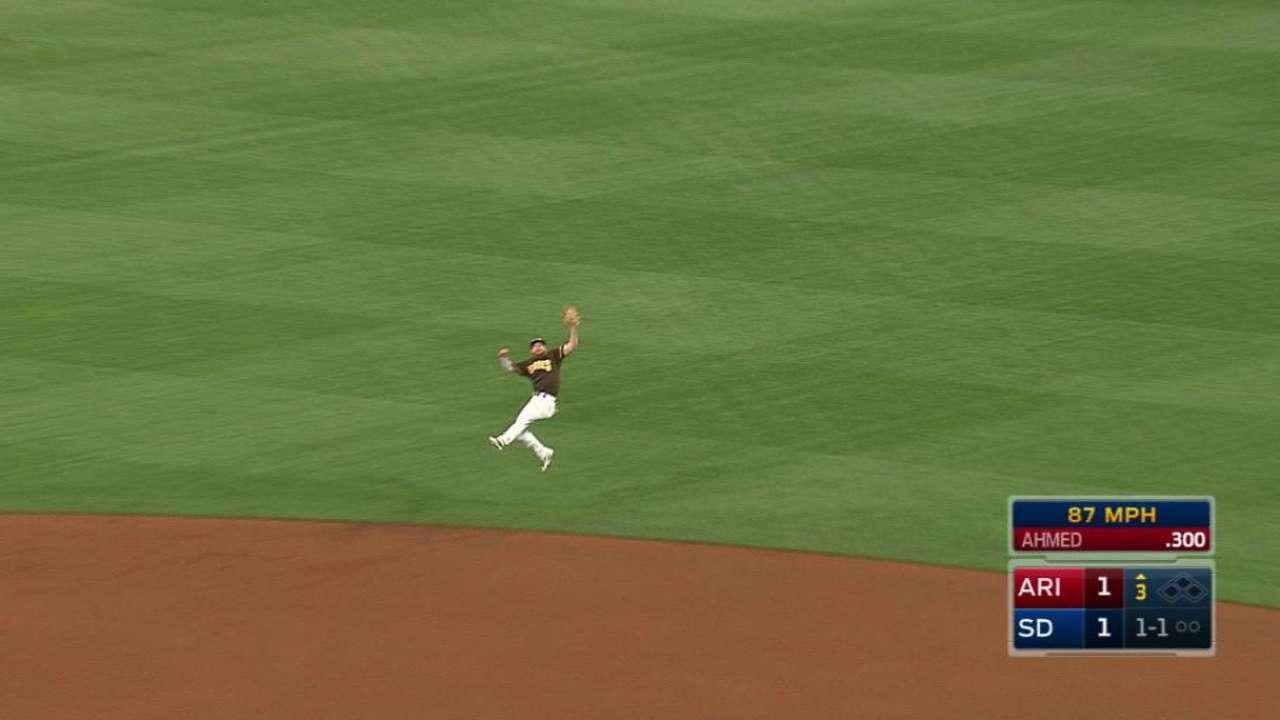 Spangenberg's athletic grab