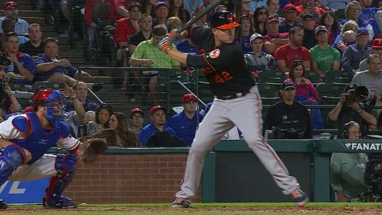 Orioles go deep, 5 times, in the heart of Texas