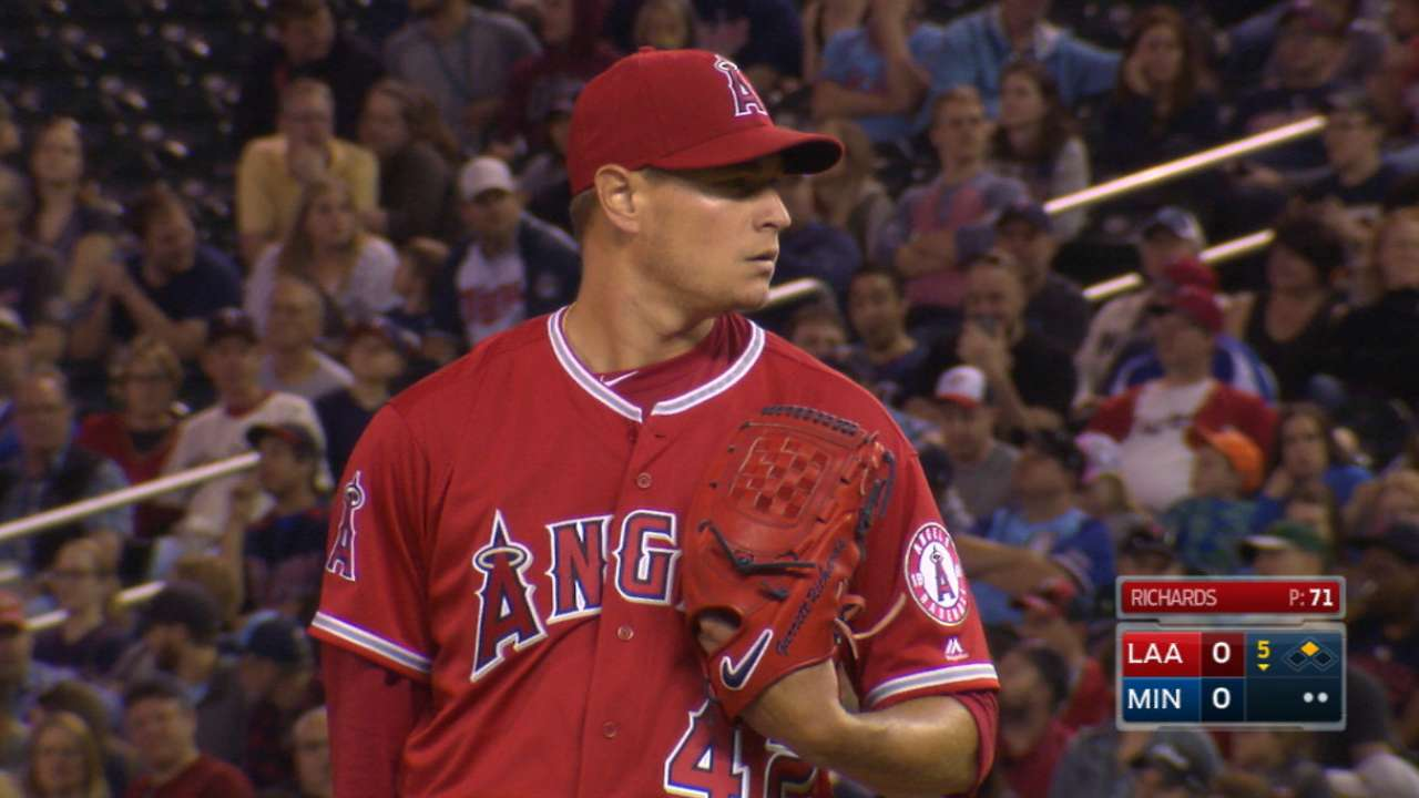 Angels' Richards looks to regain ace form