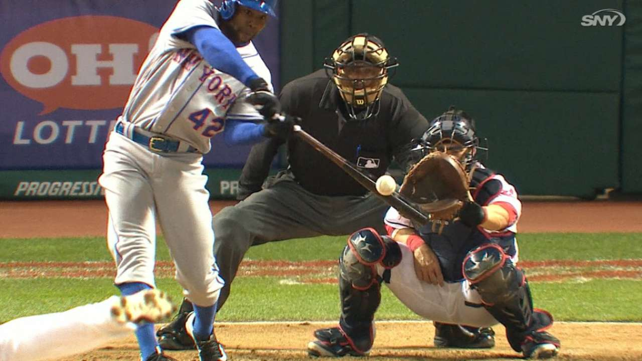 Quartet of HRs power slugging Mets past Tribe