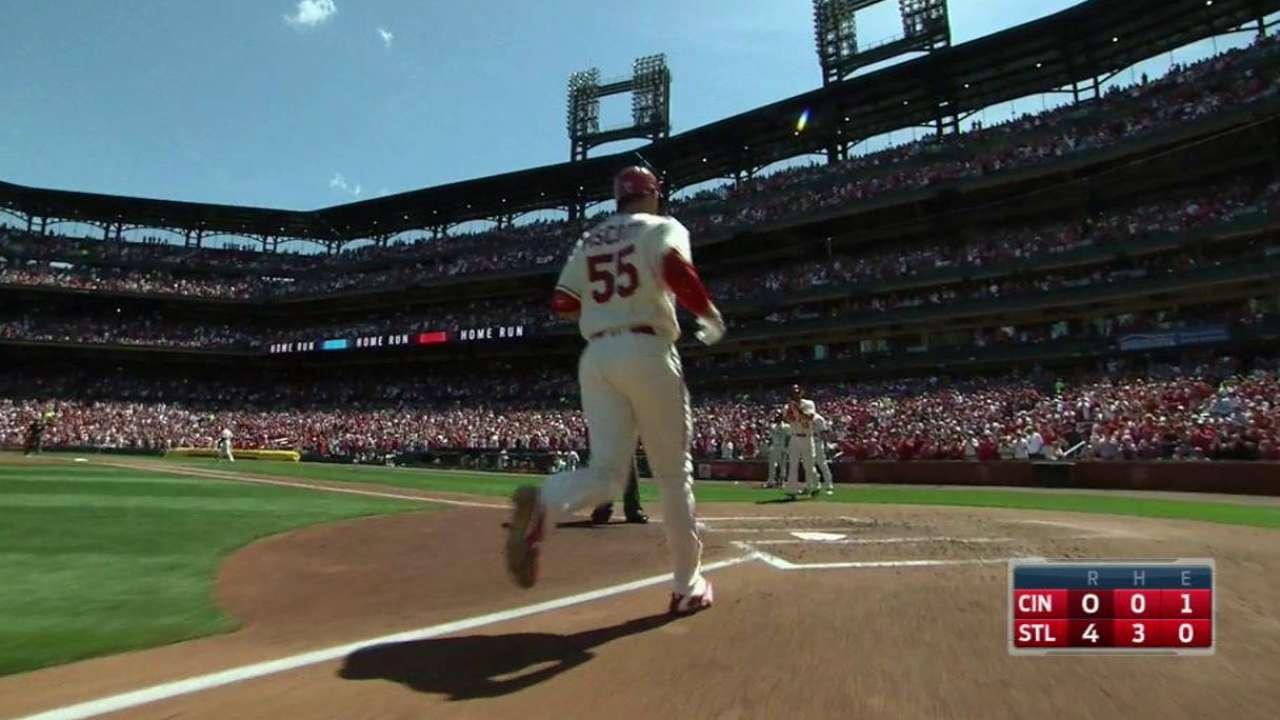 Piscotty's three-run home run