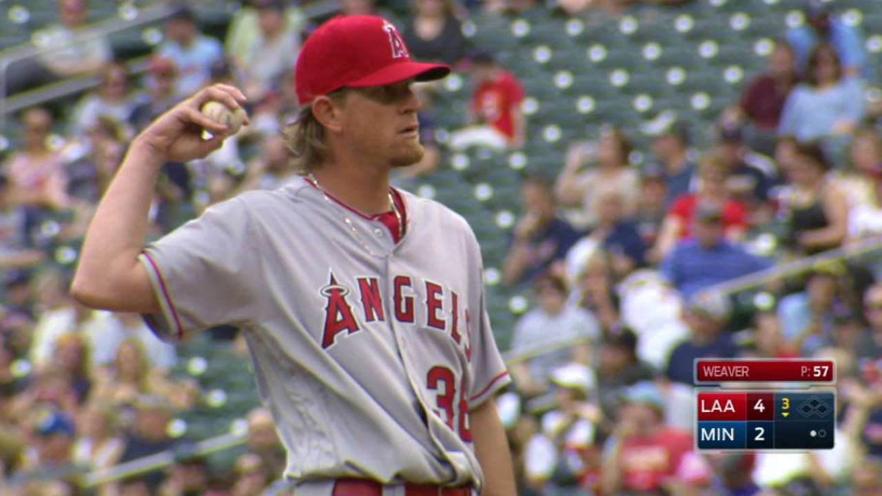 Weaver's 1,500th strikeout