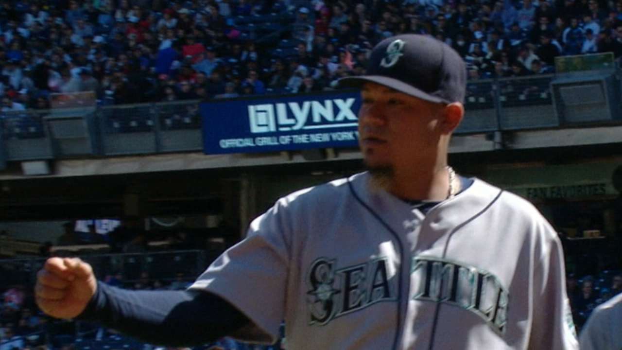 Felix makes history in Mariners' win over Yanks