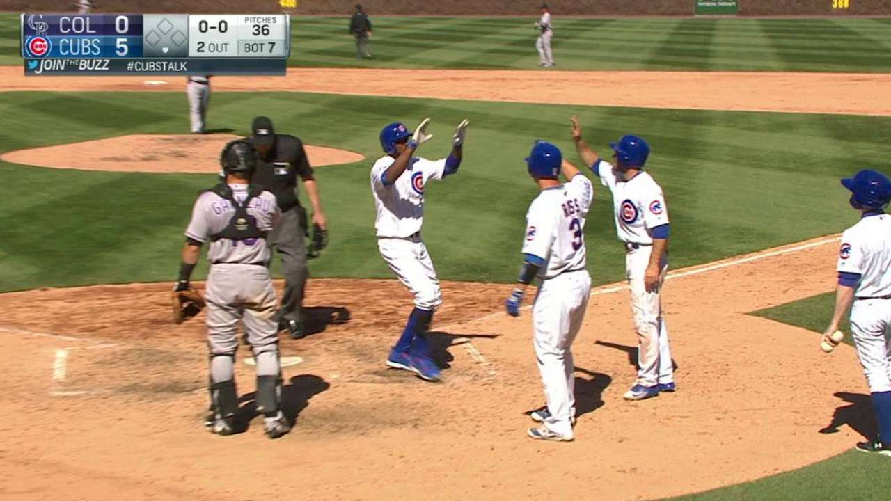 Fowler's three-run homer