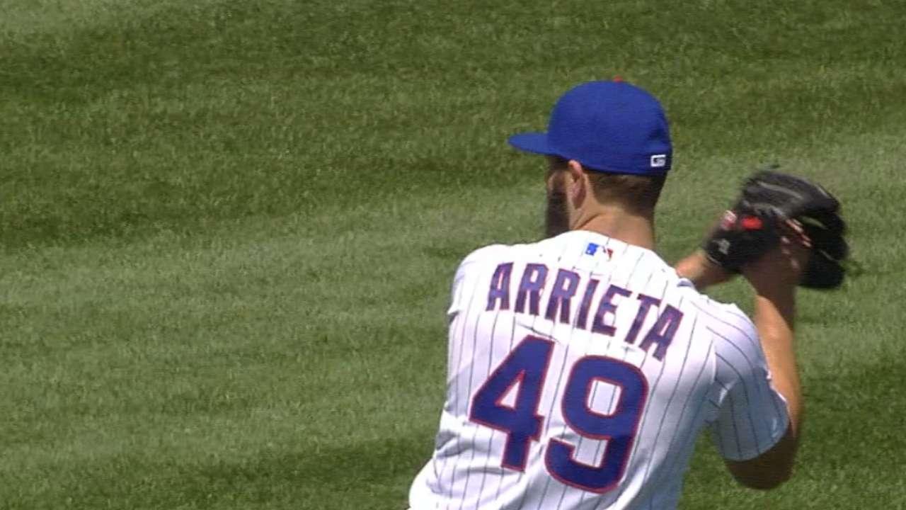 Three homers back sharp Arrieta in Cubs' win
