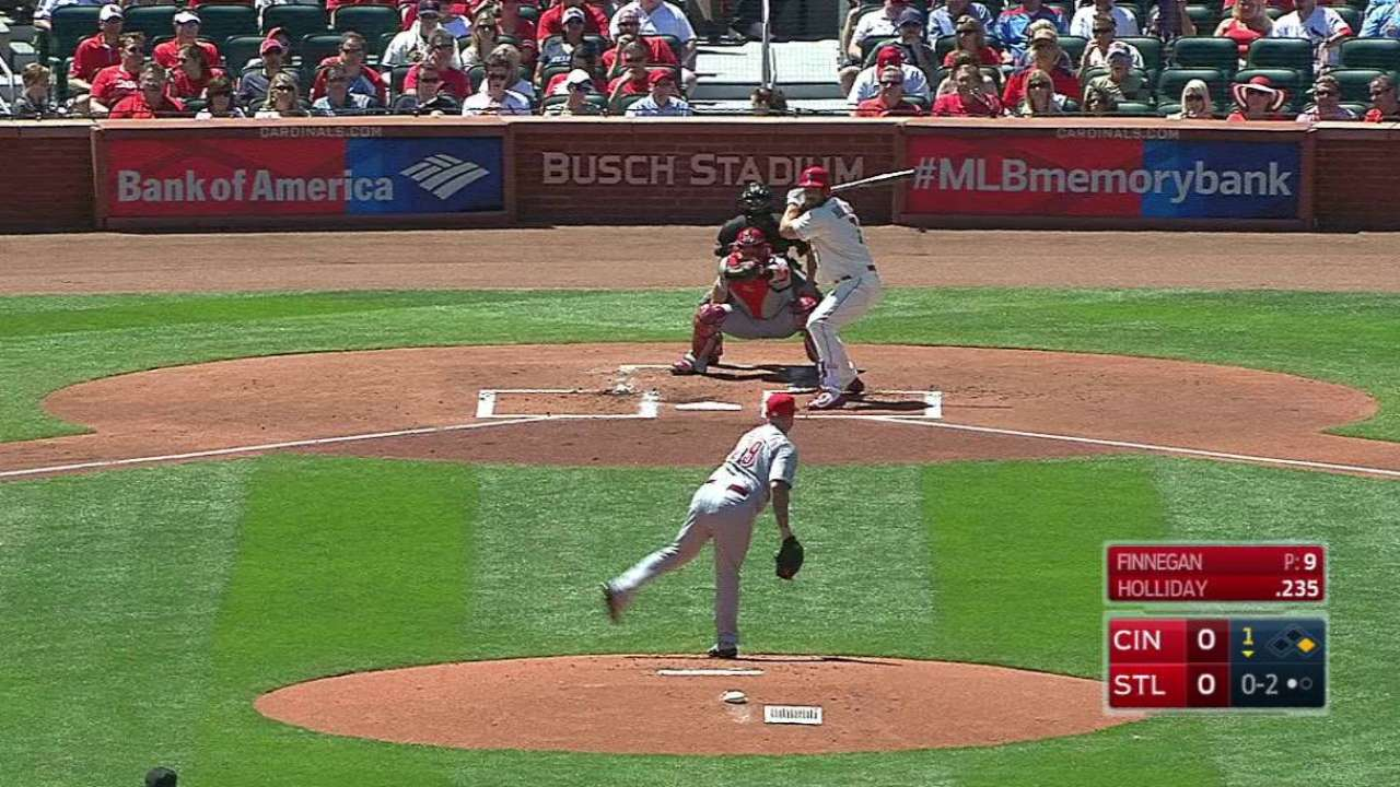 Finnegan strikes out Holliday