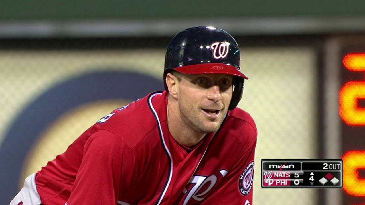 Scherzer delivers key hit during strong start