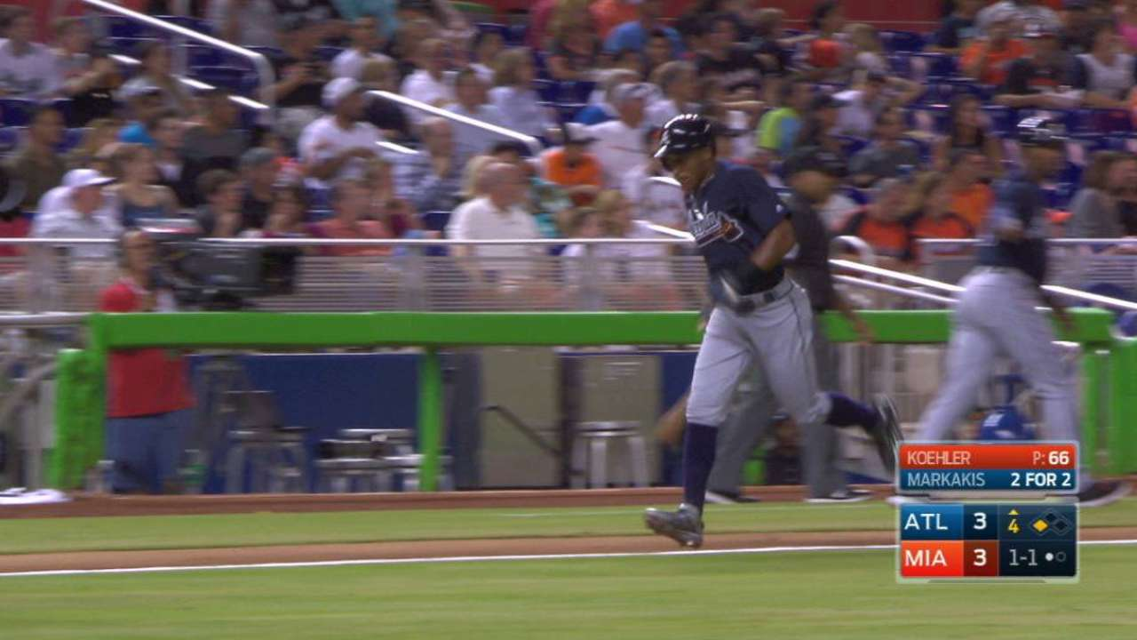 Markakis, Braves jump on Marlins early, win series