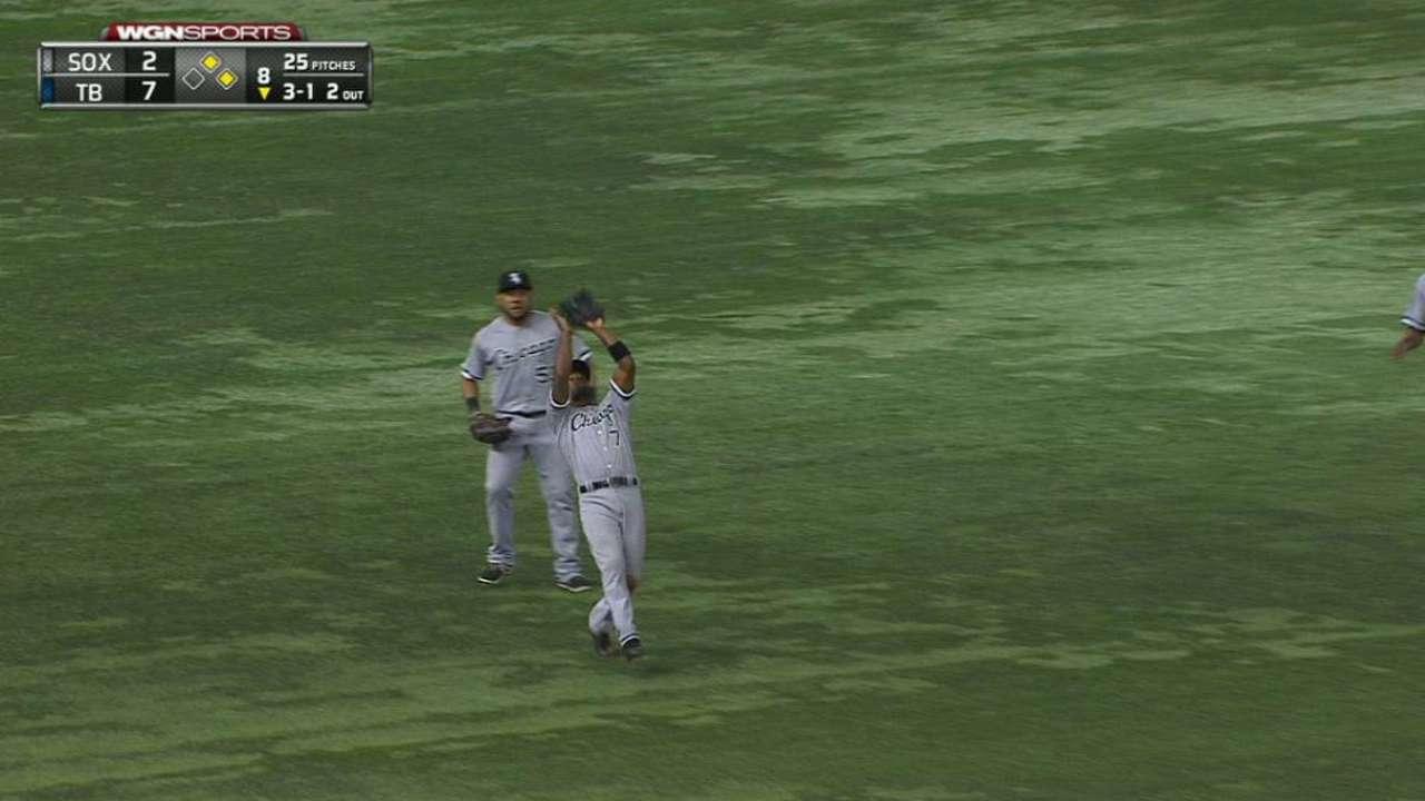 Rollins' falling catch