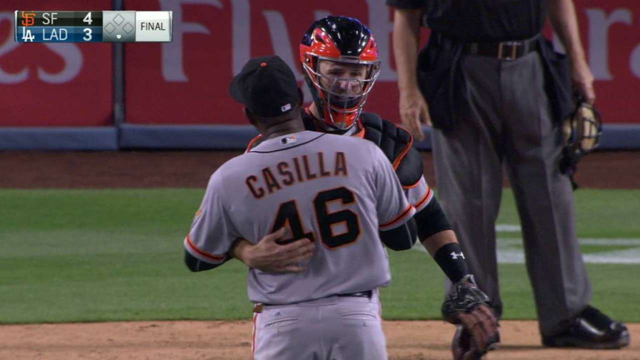Casilla notches the save